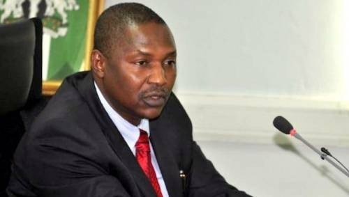 Nigeria's Attorney-General, Malami Accuses Nnamdi Kanu Of Killing Fulani Herders, Bars IPOB Members, Branded T-shirts From Court Sittings